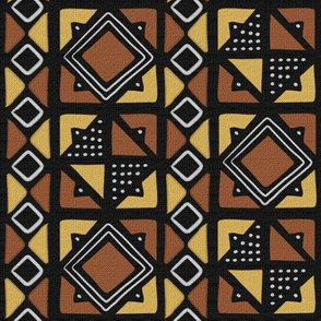 Mudcloth Inspired Diamonds and Boxes