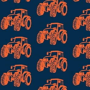 Tractors Navy with Orange