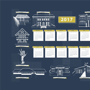 2017 Calendar Dream Homes Teatowel