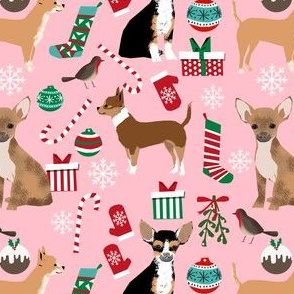 chihuahua dogs christmas fabric cute chihuahuas dogs best toy dog fabrics