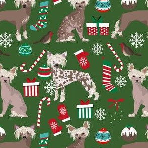 chinese crested dogs christmas fabric cute dogs design best xmas holiday dog fabric