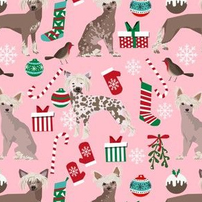 chinese crested dogs cute christmas fabrics best dog fabric cute dog designs