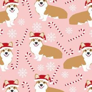santa corgis cute santa christmas fabrics best candy cane fabrics cute snowflakes christmas dogs design
