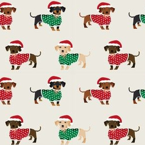 doxie christmas fabrics cute dachshunds fabric best red and green dog sweaters christmas