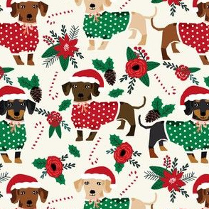 doxie christmas fabrics cute dachshunds fabric best doxie dogs xmas holiday fabrics