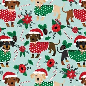 doxie christmas sweaters cute dachshunds fabric best doxie fabrics xmas fabric