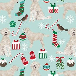 golden doodle christmas fabric cute xmas holiday christmas fabrics cute christmas dogs design