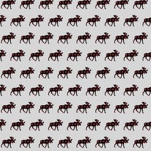 (micro print) plaid moose on fog v2