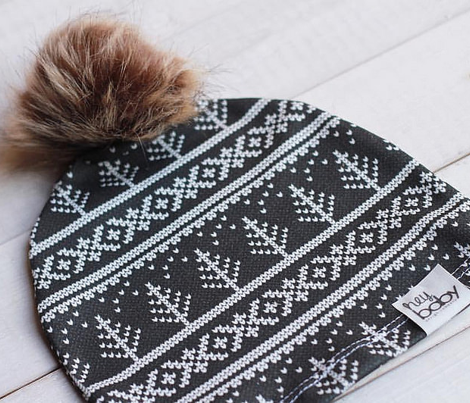 fair isle - tree (black) || winter knits