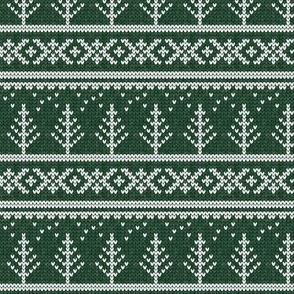 fair isle - tree (green) || winter knits