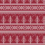fair isle - tree (red) || winter knits