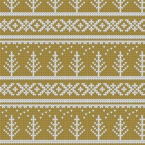 fair isle tree (mustard) || winter knits