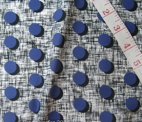 UK black shadowed blue moons on tweedy black + white by Su_G