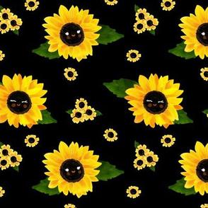 Sunflowers - Black