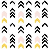 Tribal Arrows - Yellow/Pink