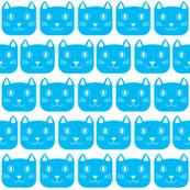 happy cat blue