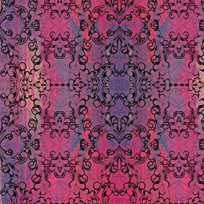 Feather Burst-purple/pink