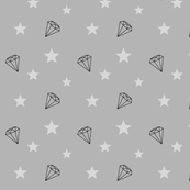 Diamonds and Stars gray