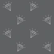 Diamonds gray