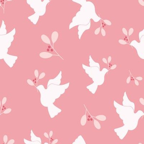 Doves in Pink