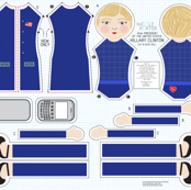 Hillary Rodham Clinton Cut-and-Sew Doll