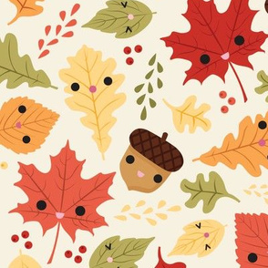 Kawaii Autumn Leaves