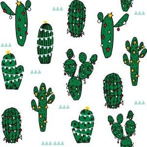 christmas cactus // christmas cactus xmas holiday fabric cute christmas lights fabric