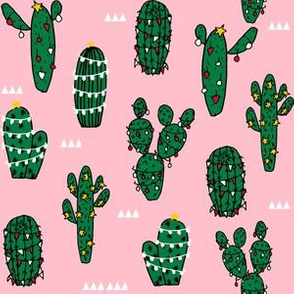 christmas cactus // cute xmas holiday cactus design best christmas fabrics