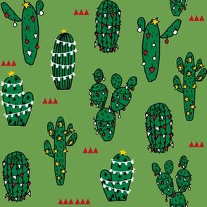 christmas cactus // cute christmas xmas holiday cactus red and christmas fabrics