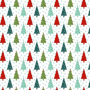 christmas trees red mint and green cute nordic scandi xmas christmas holiday trees