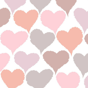 Crinkle Hearts - Large