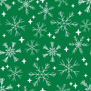 winter snowflakes // winter christmas design christmas fabric cute winter snowflake fabric