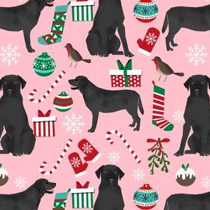 black lab christmas fabric cute labrador design best labrador christmas cute labs