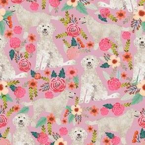 golden doodle  floral fabric cute golden doodle design best golden doodles fabric cute dogs fabric