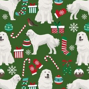 great pyrenees dog fabric cute christmas design best dogs fabric cute christmas dog fabric