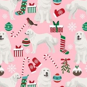 great pyrenees dog fabric cute christmas dogs best christmas dogs fabric cute christmas dog design great pyrenees dogs