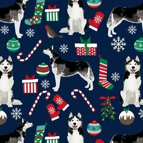 husky christmas dog fabric cute siberian husky design best huskies fabric cute dogs