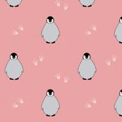 Penguins on pink