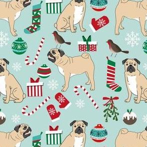 pug christmas fabric cute pugs design xmas holiday pugs fabric cute pug christmas fabric