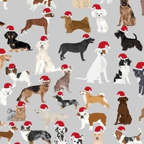 santa paws christmas dog fabric cute santa dogs christmas design cute dogs fabrics
