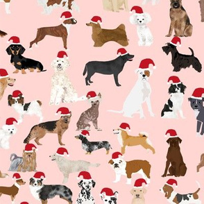 santa paws cute christmas dogs best dog christmas fabric cute christmas stocking fabric