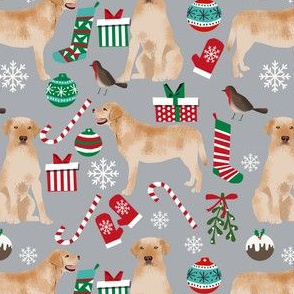 yellow lab christmas fabric cute labrador design best labrador retriever fabrics