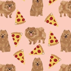pomeranian pizza fabric cute pizza dogs fabric cute dog designs