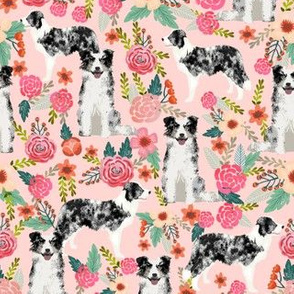 blue merle border collie fabric cute border collie design best border collies fabric floral dog fabrics cute dog design