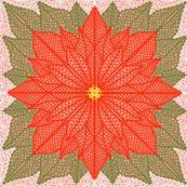 Poinsettia Lace Half-Drop