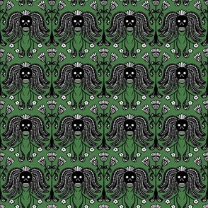 Skulls and Thistles (green)