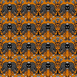 Skulls and Thistle (orange)
