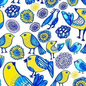Folk garden birds