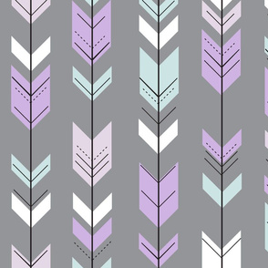 fletching arrows (pewter) || lilac grove