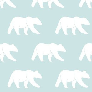bear on aviary blue || the lilac grove collection